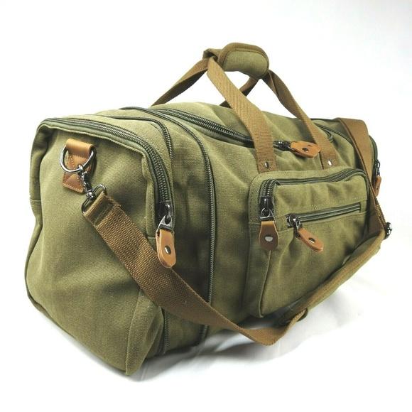 29a6f74d7c66 Canvas Duffel Gym Bag